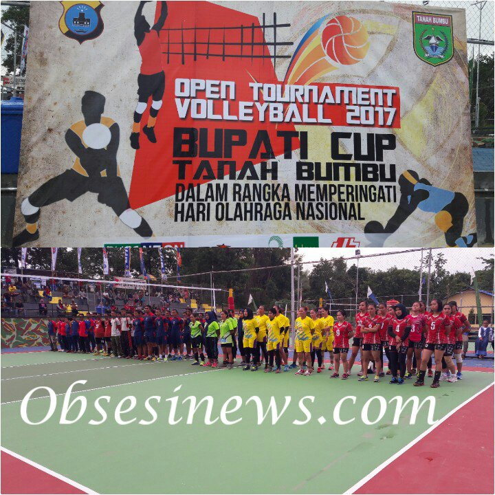 Spanduk Lomba Volly Cdr Vector